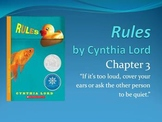 Rules, by Cynthia Lord - Chapters 3-5, Character, Compare/