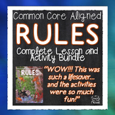 Rules by Cynthia Lord Literature Guide Common Core Aligned Lessons, Activities