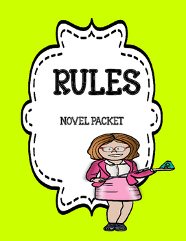 Rules  ( by Cynthia Lord) - Complete Novel Unit Bundle