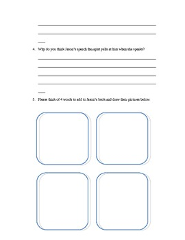 Rules by Cynthia Lord Comprehension Packet