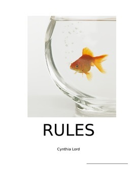 Rules by Cynthia Lord - Literature Unit