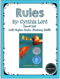 Rules by Cynthia Lord Novel Unit including higher order thinking skills