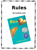 Rules by Cynthia Lord Novel Unit packet