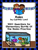 Rules by Cynthia Lord- Over 100 EBOB Questions