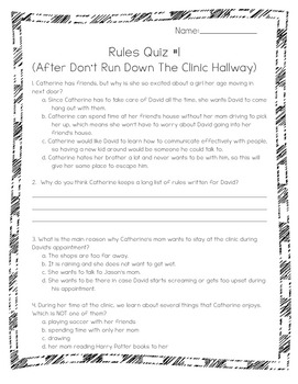 Rules by Cynthia Lord Power Pack:  22 Journal Prompts and 11 Quizzes