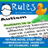 Rules Novel Study Unit