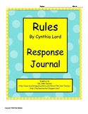 Rules by Cynthia Lord Response Journal