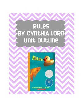 Rules by Cynthia Lord Unit Outline