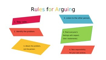 Rules for Arguing