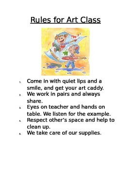 Rules for Art Class