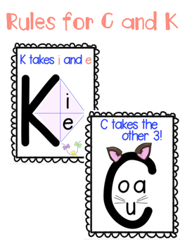Rules for C and K posters