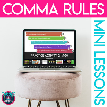 Rules for Commas & Semicolons: Presentation, Notes, and Sort