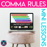Rules for Commas & Semicolons Lesson: Presentation, Notes, and Sort