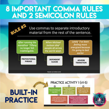 Commas in a Series and Other Comma Rules: Mini Lessons and Mentor Sentences