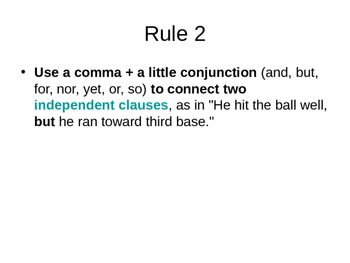 Rules for Commas Use