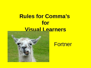 Rules for Comma's for Visual Learners