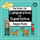 Rules for Comparative and Superlative Adjectives - 15 Worksheets