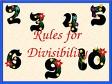Rules for Divisibility, Handout, Homework, and Quiz, Math