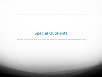 Rules for Division/Special Quotients