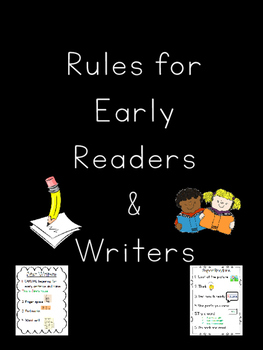 Rules for Early Readers and Writers Posters