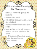 Rules for Entering the Classroom Poster