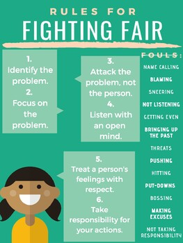Rules for Fighting Fair Poster