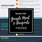 Rules for Google Meets and Hangouts