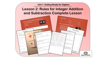 Rules for Integer Addition and Subtraction Complete Lesson