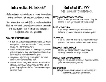 Rules for Interactive Notebooks