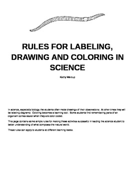 Rules for Labeling, Drawing and Coloring in Science.