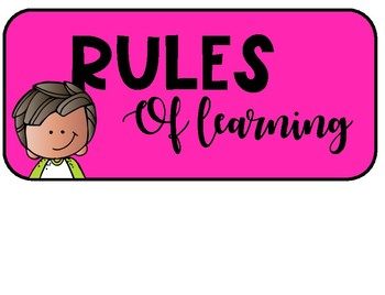 Rules for Learning