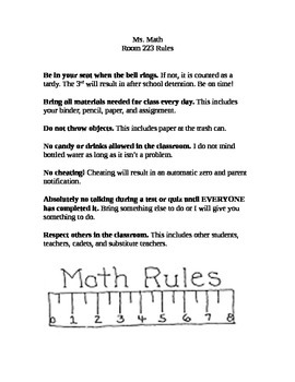 Rules for Middle School