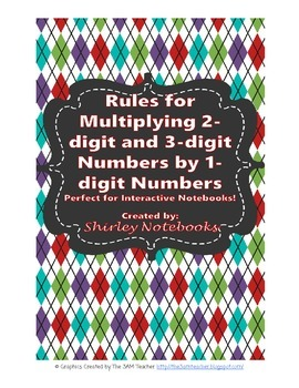 Rules for Multiplying 2-digit numbers and 3-digit numbers by 1-digit numbers