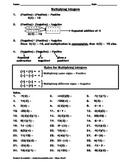 Multiplying Integers Practice Worksheet