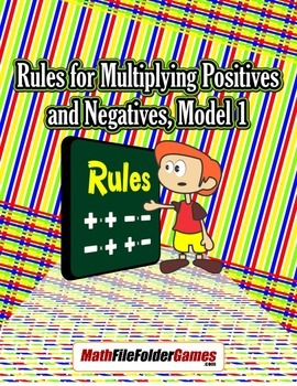 Rules for Multiplying Positives and Negatives {Integer Activity}