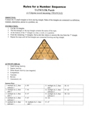 Rules for Number Sequence Game Puzzle with Worksheet