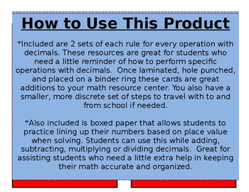 Rules for Operations with Decimals
