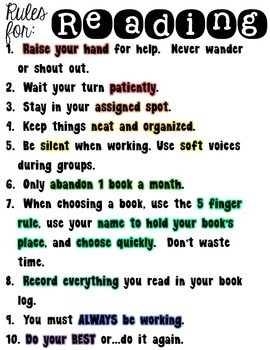 Rules for Reading Groups