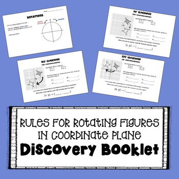 Rules for Rotating Figures in the Coordinate Plane - Rotations Discovery