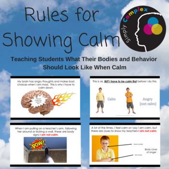 Rules for Showing Calm; Self-Regulation; Emotional Regulation