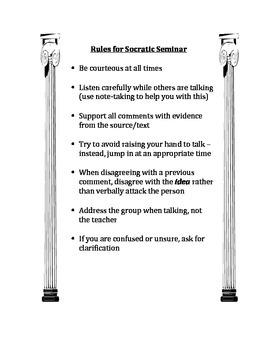 Rules for Socratic Seminar
