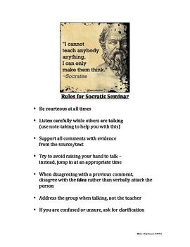 Rules for Socratic Seminar 2