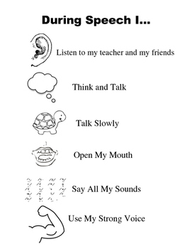 Rules for Speech-Language Session