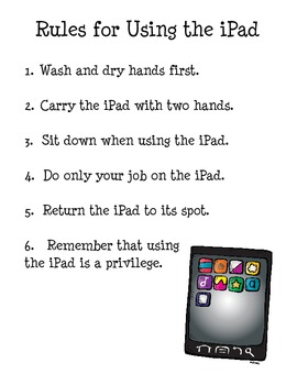 Rules for Using the iPad (freebie)