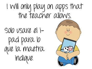Rules for Using the iPad in English and Spanish!