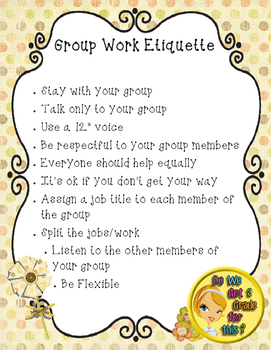 Rules for Working in Groups