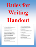Rules for Writing Handout