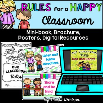 Rules for a Happy Classroom - Mini-book, Posters and More