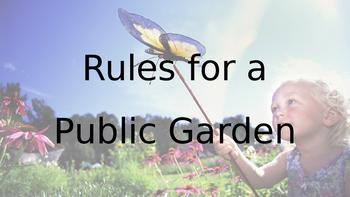 Rules for a Public Garden - Short Writing