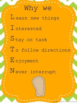 Rules for a Respectful Classroom - Mini-Posters